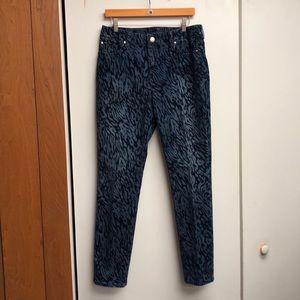 Chico Velvet Animal Print Jeans Sz 1.5